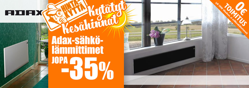 Adax-sähkölämmittimet jopa -35%