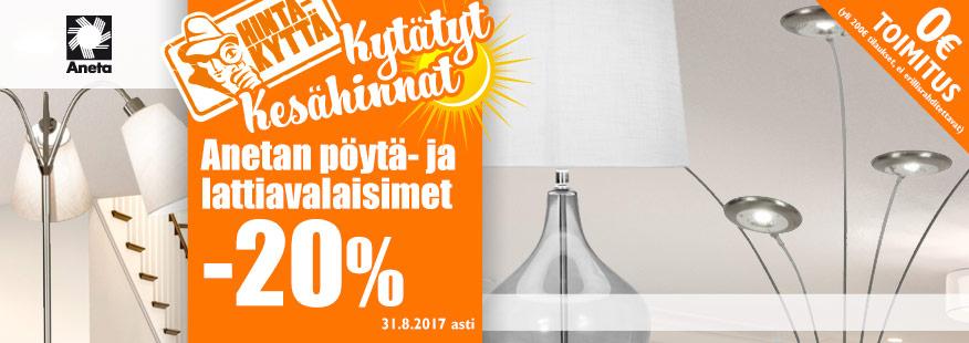 Aneta-valaisimia -20%