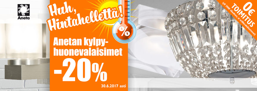 Aneta-kylpyhuonevalaisimet -20%