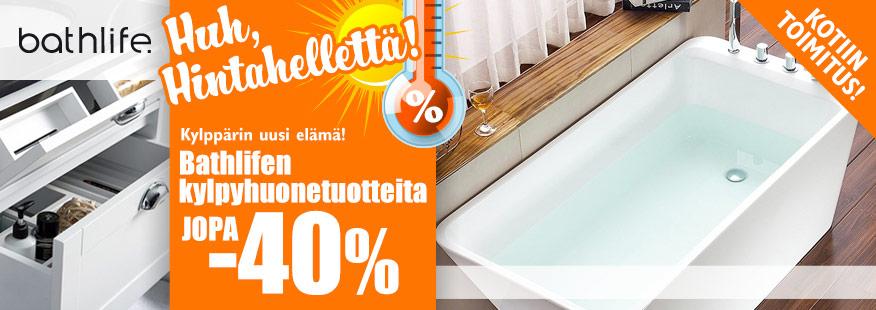 Bathlife-tuotteet jopa -40%