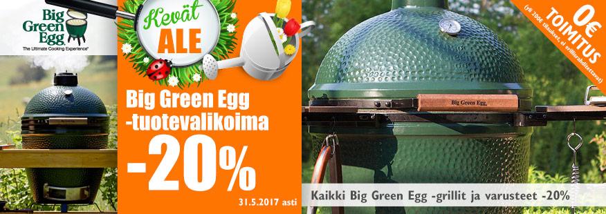 Big Green Egg-hiiligrillit -20%