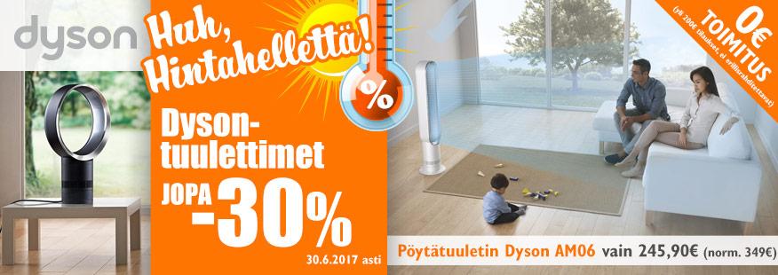 Dyson-tuulettimet jopa -30%