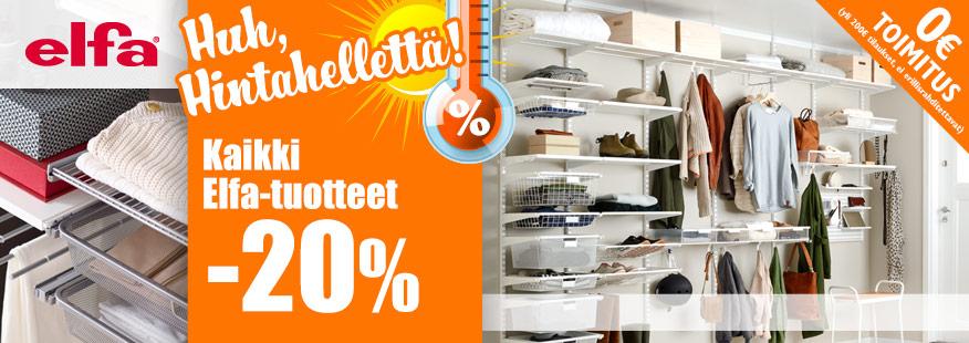 Elfa-tuotteet -20%