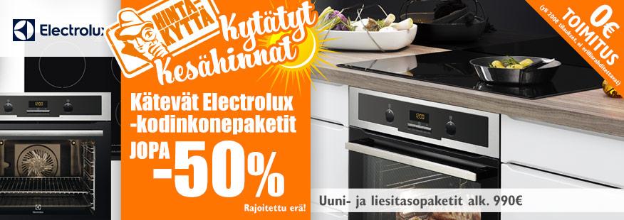Erä Electrolux-kodinkoneita jopa -50%