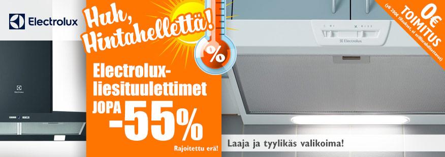 Electrolux-liesituulettimet jopa -55%
