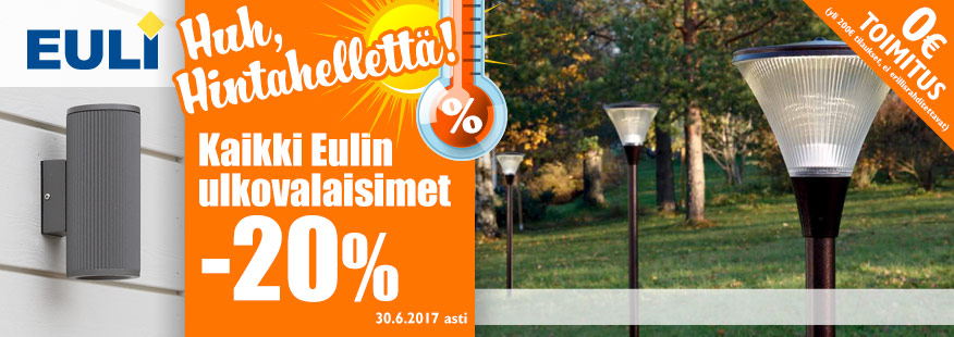 Euli-ulkovalaisimet -20%