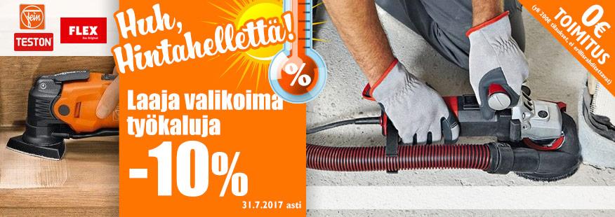 Laaja valikoima työkaluja vähintään -10%