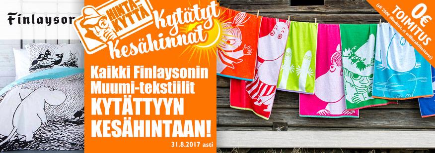 Finlaysonin Muumi-tuotteet ALE-hintaan!