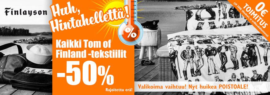 Finlaysonin Tom of Finland -tekstiilit -50%