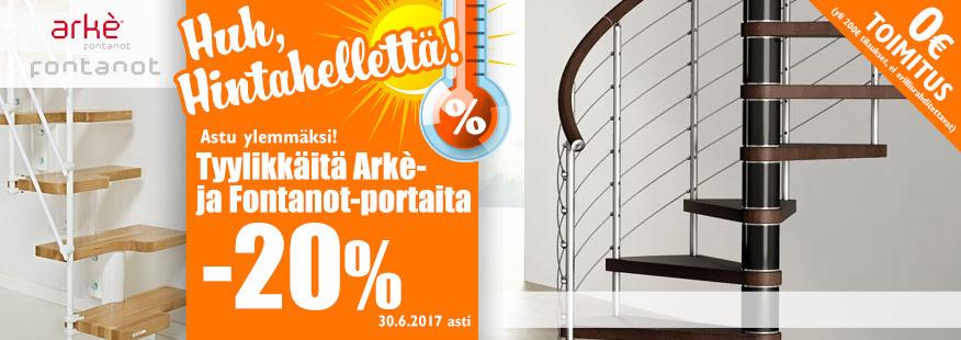 Arke- ja Fontanot-portaita -20%