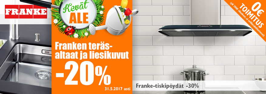 Franke-tuotteita -20-30%