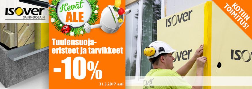 Isoverin tuulensuojaeristeet ja tarvikkeet -10%