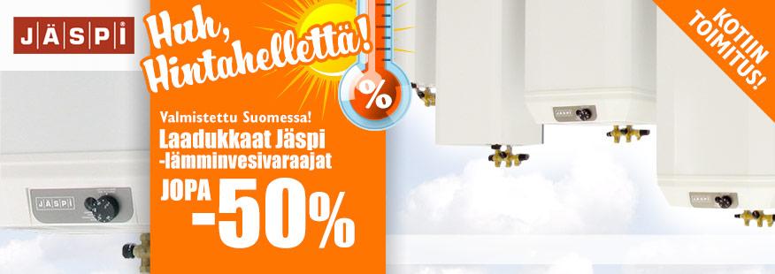 Jäspi-lämminvesivaraajat jopa -50%