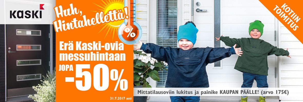 Kaski-ovia jopa -50%