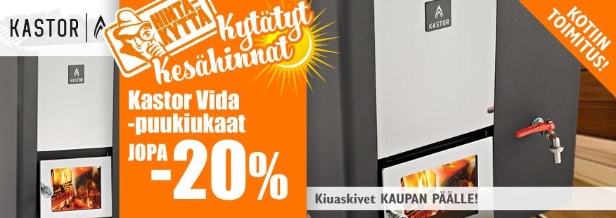 Kastor Vida -puukiukaat jopa -20% + kiuaskivet kaupan päälle!