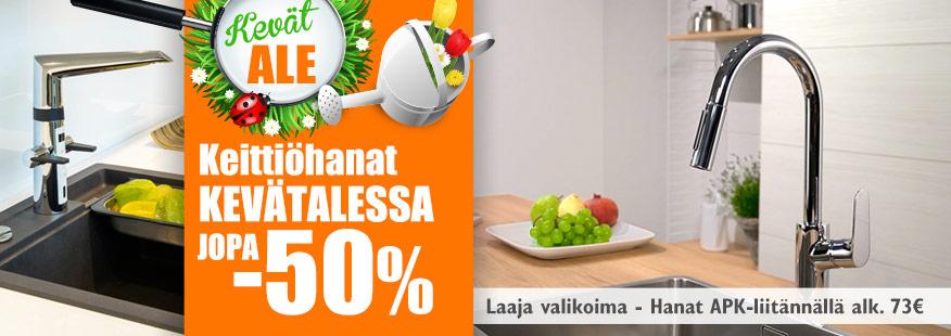 Keittiöhanat jopa -50%