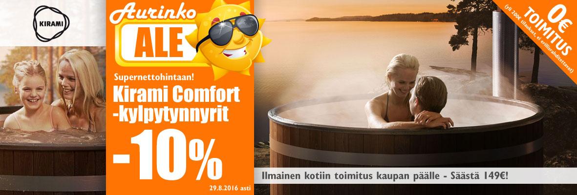 Kirami Comfort -kylpytynnyrit -10% + toimitus kaupan päälle!