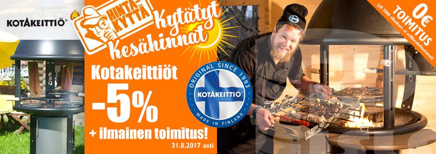 Kotakeittiön pihagrillit -5% + ilmainen toimitus!