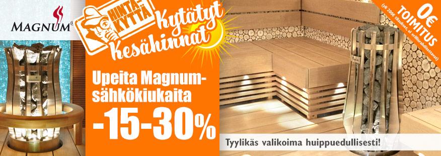 Magnum-sähkökiukaat jopa -30%