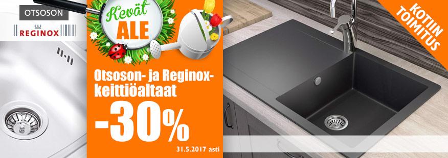 Otsoson- ja Reginox-keittiöaltaat -30%