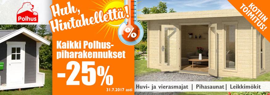 Polhus-piharakennukset -25%