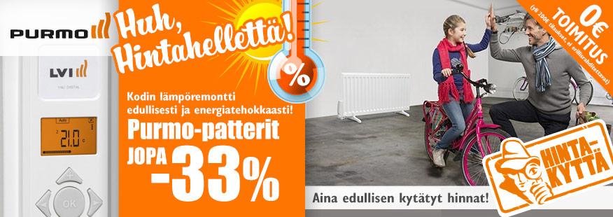 Purmo-sähköpatterit jopa -33%