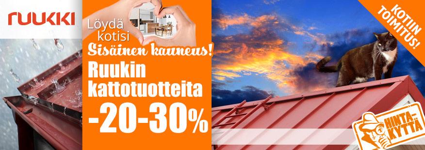 Ruukki-kattotuotteita -20-30%