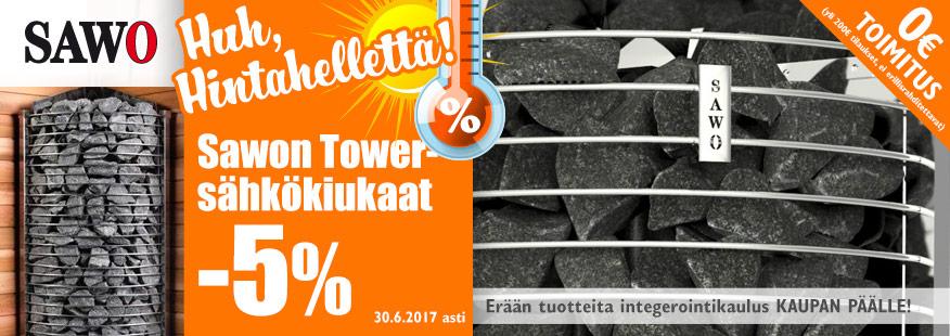 Sawo Tower -sähkökiukaat -5%