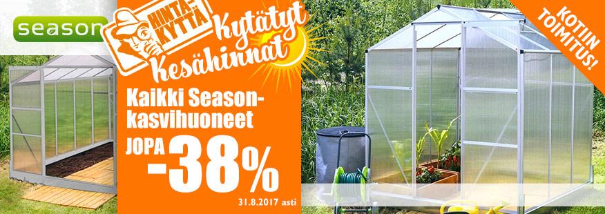 Season-kasvihuoneet jopa -38%