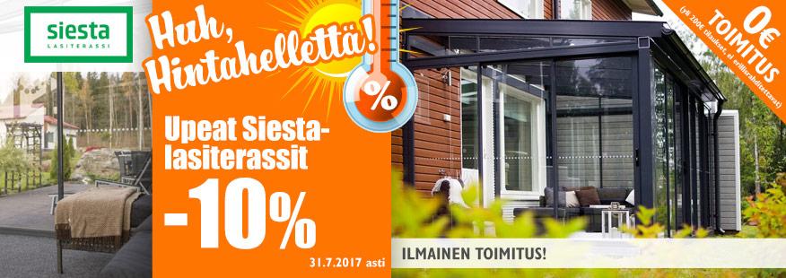 Siesta-lasiterassit -10%
