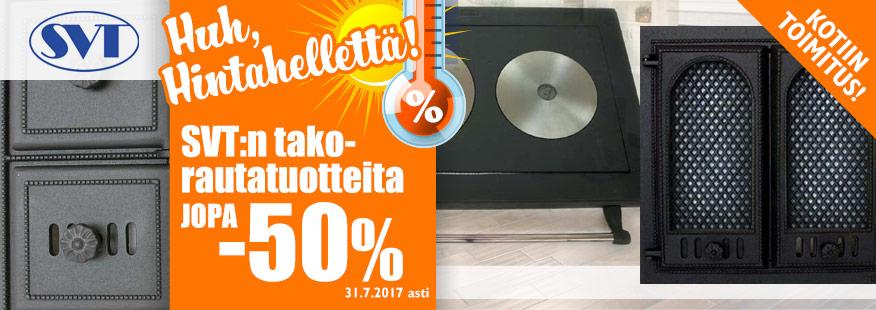 Erä SVT-takkatuotteita jopa -50%