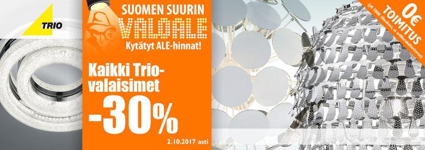 Trio-valaisimet -30%