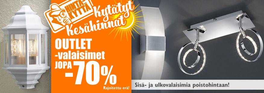 OUTLET-valaisimia jopa -70%