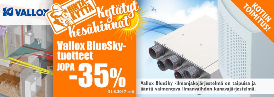 Vallox BlueSky -tuotteet jopa -35%