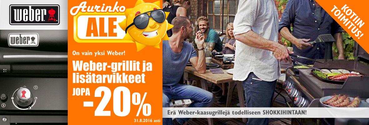 Weber-tuotteet jopa -20%