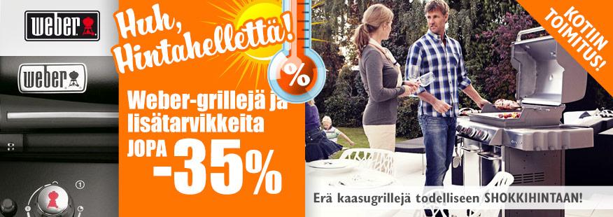 Weber-tuotteita jopa -28%