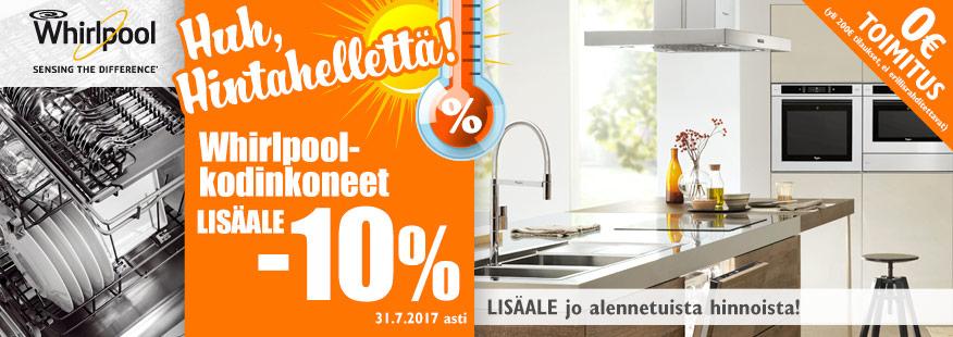Whirlpool-kodinkoneisiin LISÄALE -10%