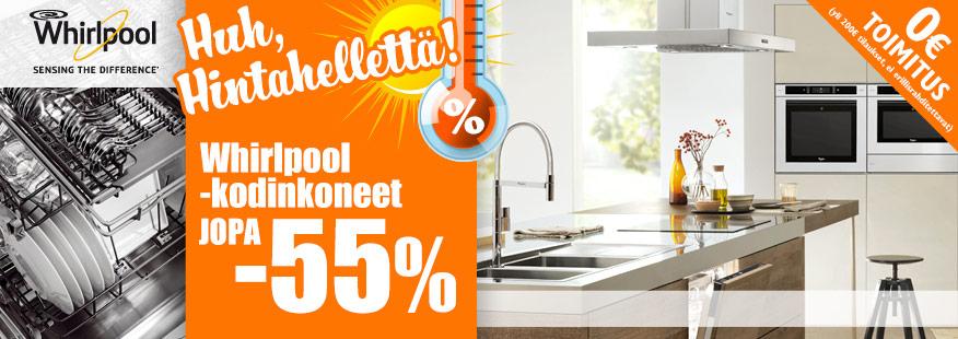 Whirlpool-kodinkoneet jopa -55%