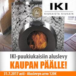 IKI-puukiukaisiin alusta kaupan päälle!
