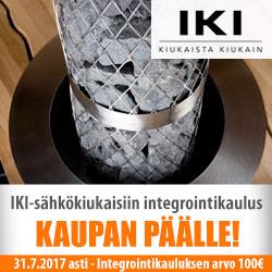 IKI-sähkökiukaisiin kaulus kaupan päälle!