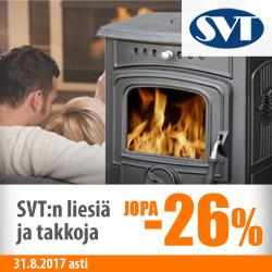 Erä SVT:n takkoja ja liesiä jopa -26%