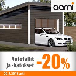 Aarnin autotallit ja -katokset -20%