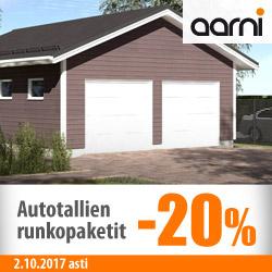 Aarni autotallien runkopaketit -20%