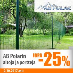 AB Polarin aidat ja portit jopa -25%