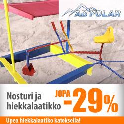 AB Polarin hiekkalaatikko ja nosturi jopa -29%