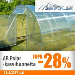 AB Polarin kasvihuoneita jopa -28%