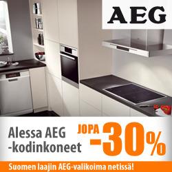 AEG-kodinkoneet jopa -30%