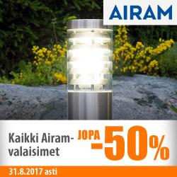 Kaikki Airam-valaisimet jopa -50%