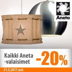 Kaikki Aneta-valaisimet -20%