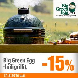 Big Green Egg -grillit -15%